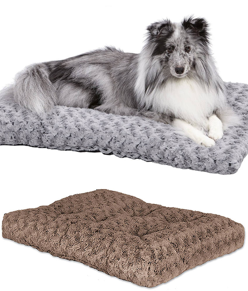 It can be used as a stand alone bed or will fit nicely into most designs of  extra large dog crate.