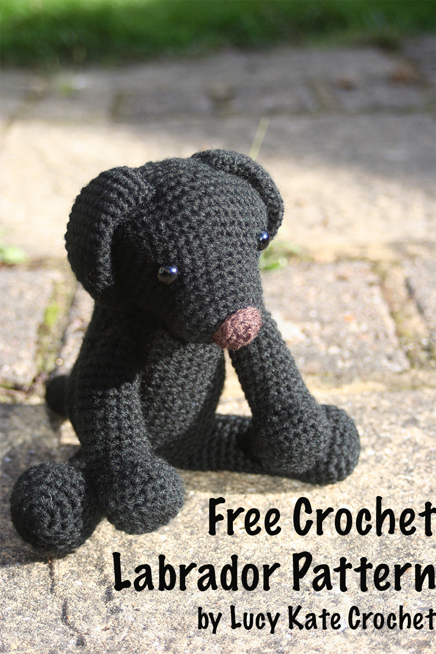 Free Crochet Puppy Pattern. How To Crochet Your Own Labrador Toy. Original Pattern, by Lucy Kate Crochet