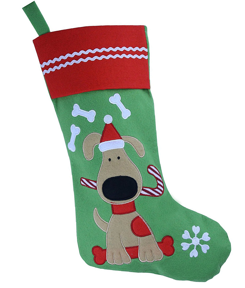 Embroidered Dog Stocking