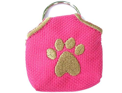 Dog collar tag bag