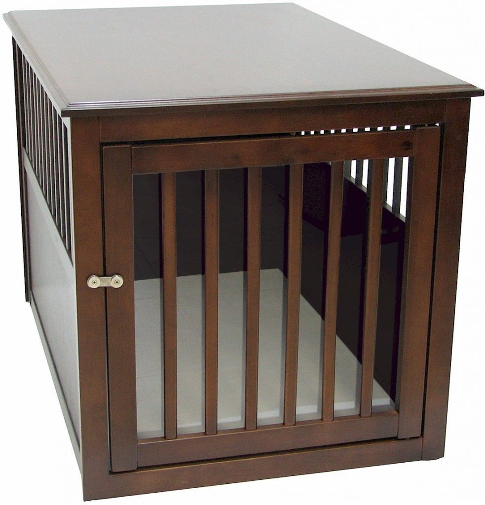 the best dog crate covers  reviews and top choices - crown pet wooden crate table