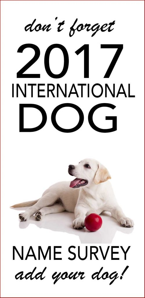 2017 international dog name survey